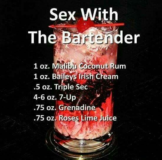 Sex with the bartender drinl