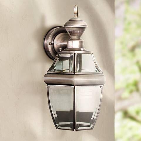 Antique Silver 14 1 2 Dusk To Dawn Motion Sensor Wall Light