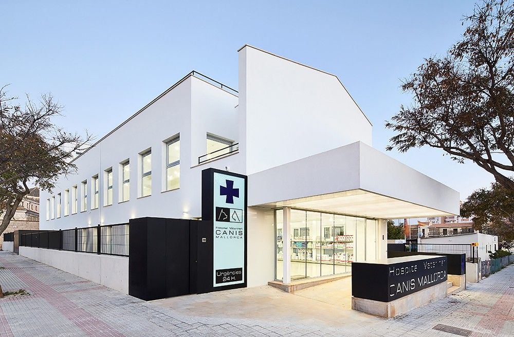 Gallery Of Veterinary Hospital Canis Mallorca Estudi E Torres Pujol 1 Hospital Architecture Healthcare Architecture Pet Clinic