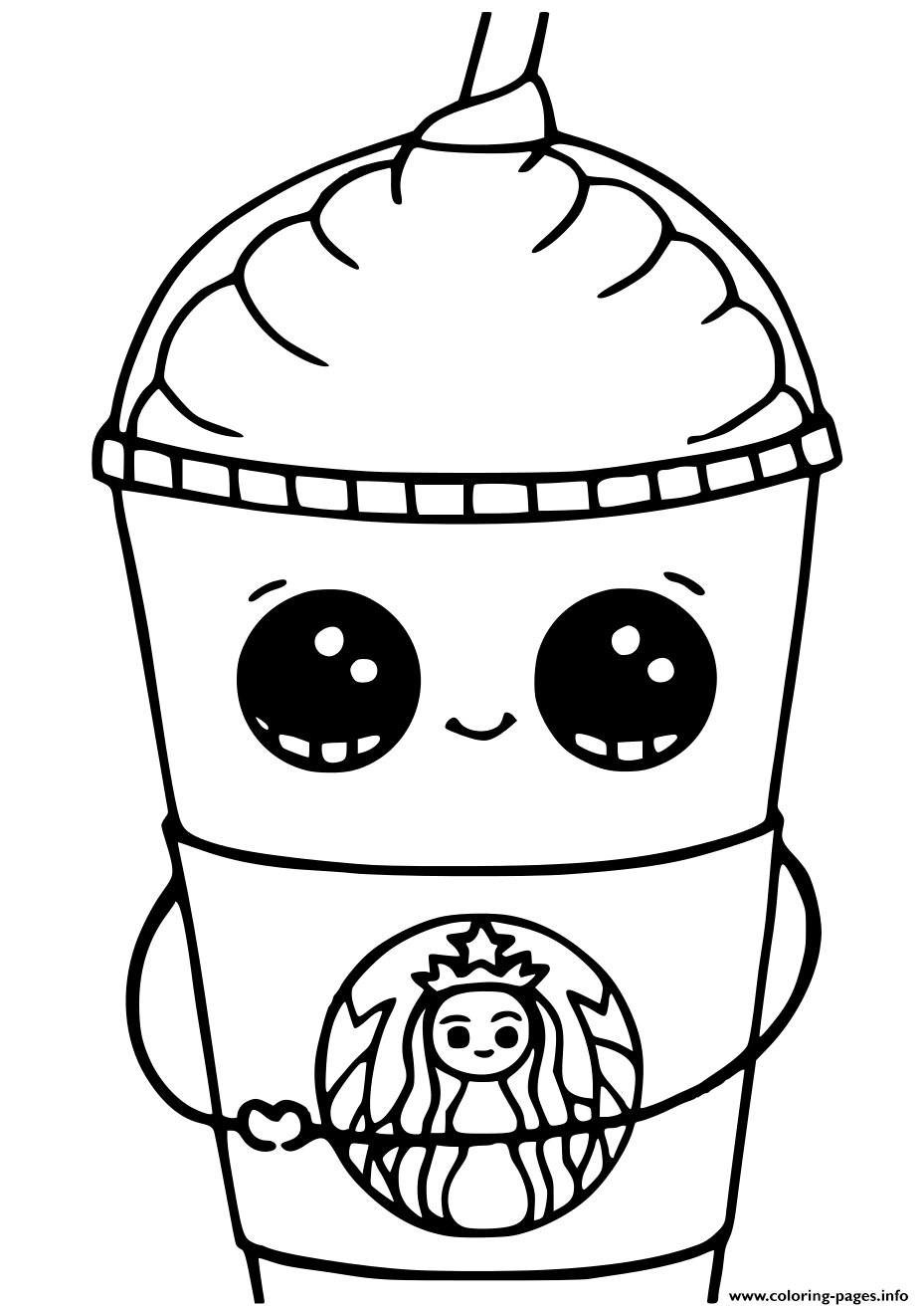 Print Starbucks Cups Kawaii Coloring Pages In 2020 Creation Coloring Pages Food Coloring Pages Pusheen Coloring Pages