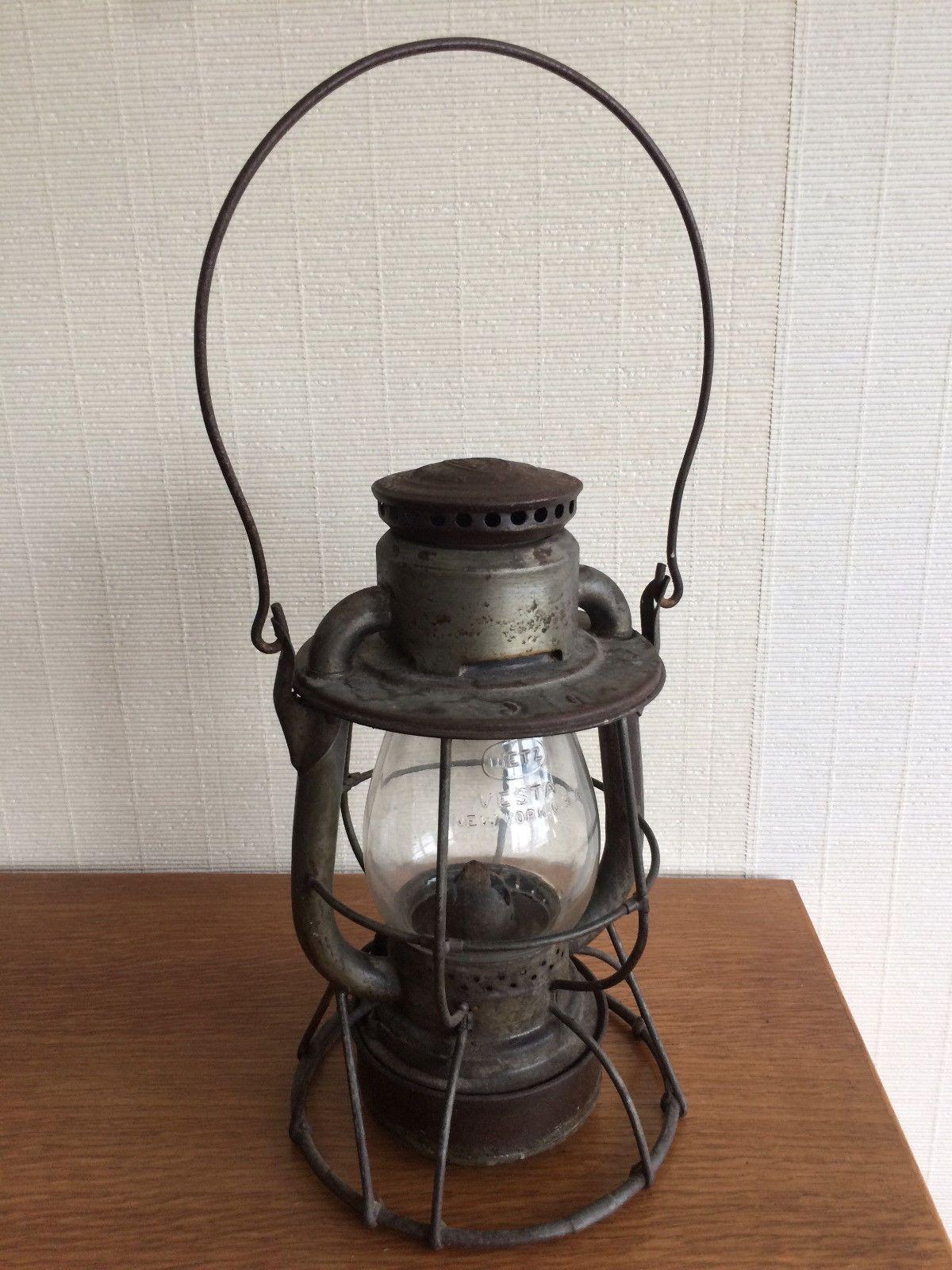 Vintage Dietz Vesta Railroad Lantern New York Usa Patented Lampe