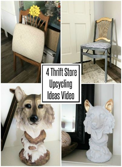 4 Thrift Store Upcycling Ideas - DIY Inspired