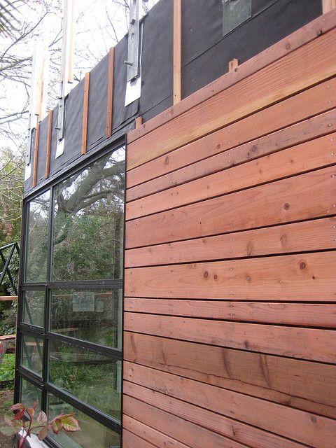 Redwood Siding Wood Siding Exterior Redwood Siding Backyard Cottage