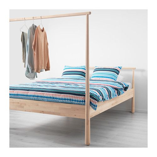 gjÖra bed frame birch/luröy standard double | bed frames ... - Ikea Letto Wenge