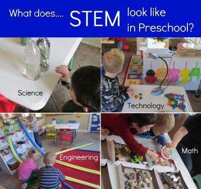 An article about the importance of STEM (Science, Technology, Engineering, and Math) in the preschool classroom