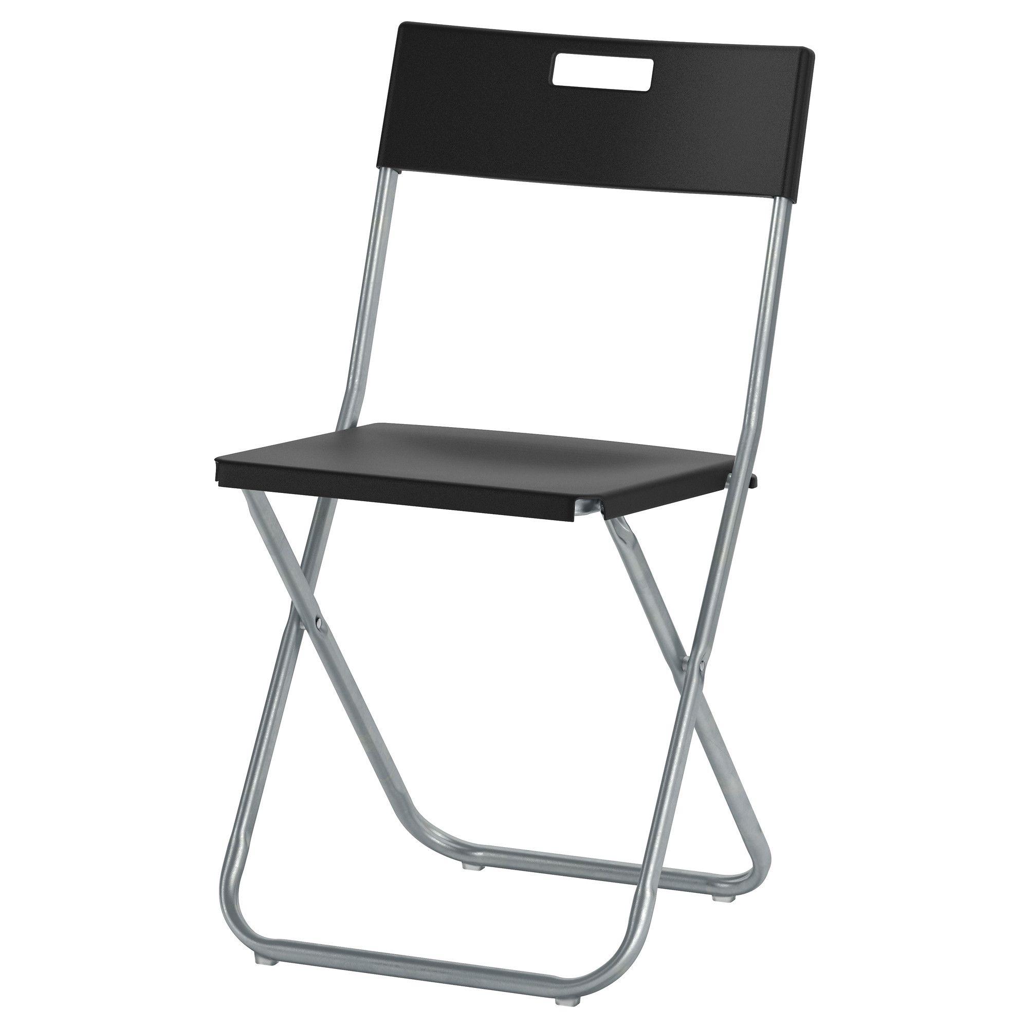 Gunde Folding Chair Black Folding Chair Ikea Folding Chairs