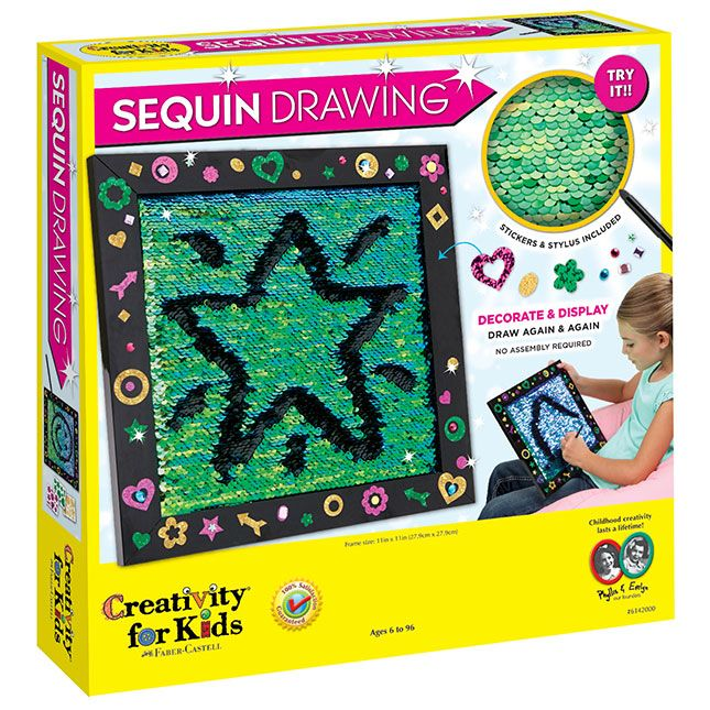 Sequin Drawing - Best Arts & Crafts for Ages 6 to 12 ...