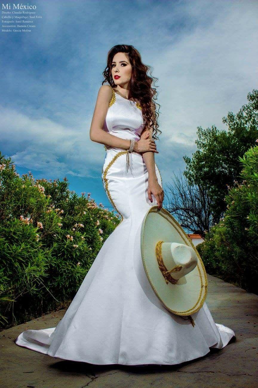 Vestido de novia estilo mariachi, muy mexicano, a lo tradicional ...