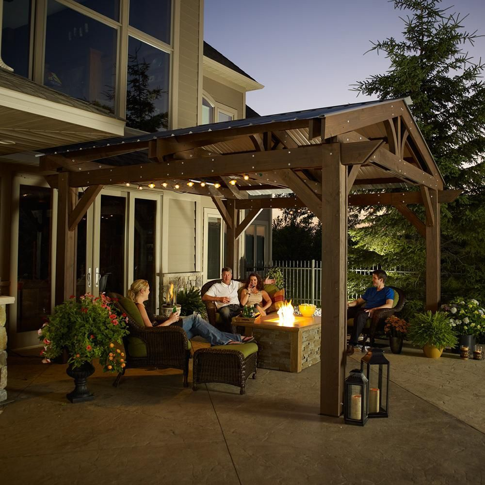 With The Lodge Ii Pergola In Stunning Mocha You Will Be Able To Create Your Ideal Outdoor Space Perfect For Relaxin Outdoor Pergola Pergola Plans Patio Design
