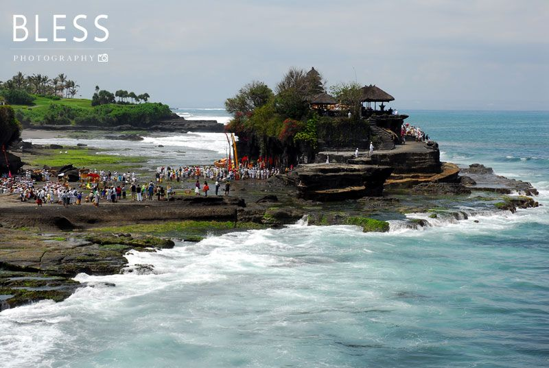 Tanah lot temple - Bali, Indonesia. photo by Bless #bali