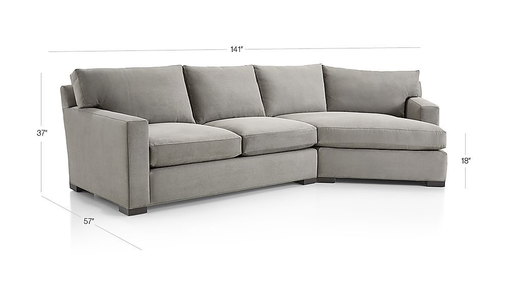 Crate Barrel Axis Ii 2 Piece Right Arm Angled Chaise Sectional Sofa Sectional Sectional Sofa Sofa 2 piece sectional sofa with chaise