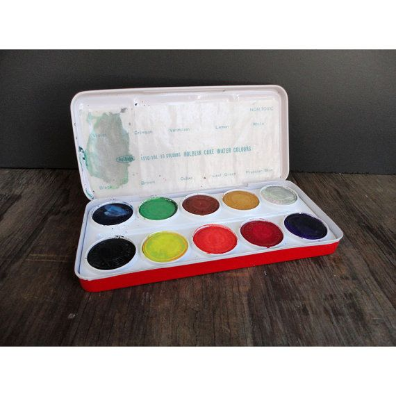 Watercolor Paint Box Holbein Water Colors Made In Japan
