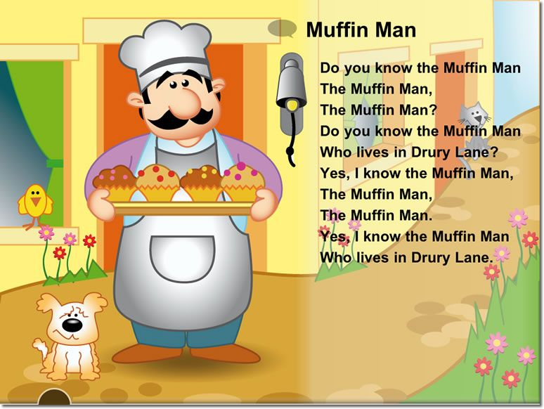 The In Man Nursery Rhyme Littlereaders