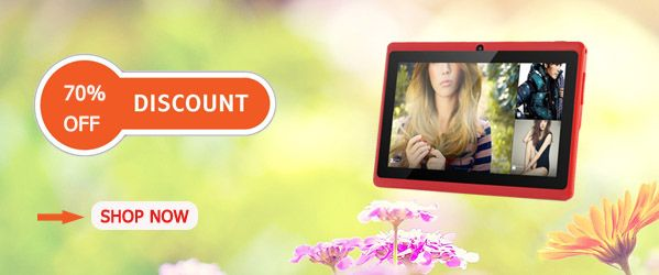 This cute tablet is perfect to your daughter. Get one now! Up to 70% OFF now. http://www.chinavasion.com/china/wholesale/Android_Tablets/7_Android_Tablet_PC/Budget_Android_4.2_Tablet_PC_Lavos_II_-_7_Inch_Screen_1.2GHz_CPU_512MB_RAM_Wi-Fi_4GB_Red/