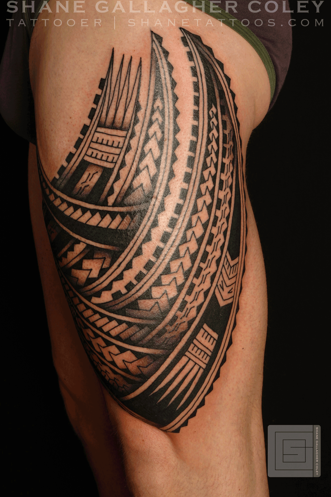 American samoa tattoo designs on the leg polynesian thigh tatau
