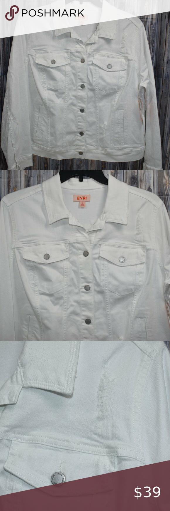 White Distressed Denim Jean Jacket 1x Evri Plus Distressed Denim Denim Jean Jacket Distressed Denim Jeans [ 1740 x 580 Pixel ]