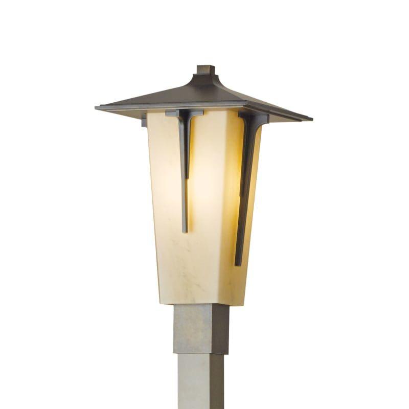 Hubbardton Forge 345715 Skt Modern Prairie Single Light 20 Tall Outdoor Single Coastal Bronze Stone Outdoor Lighting Post Lights Single Head Post In 2020 Outdoor Post Lights Led Lantern Glass