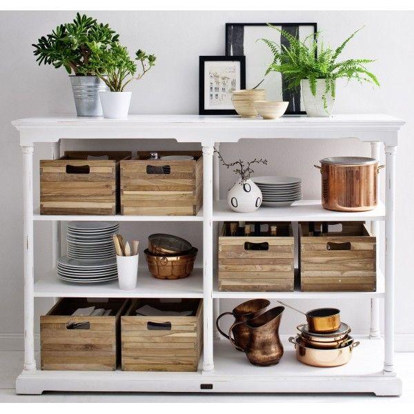 desserte haute cuisine blanche 6 paniers meubles blancs atlantique pinterest cuisine. Black Bedroom Furniture Sets. Home Design Ideas