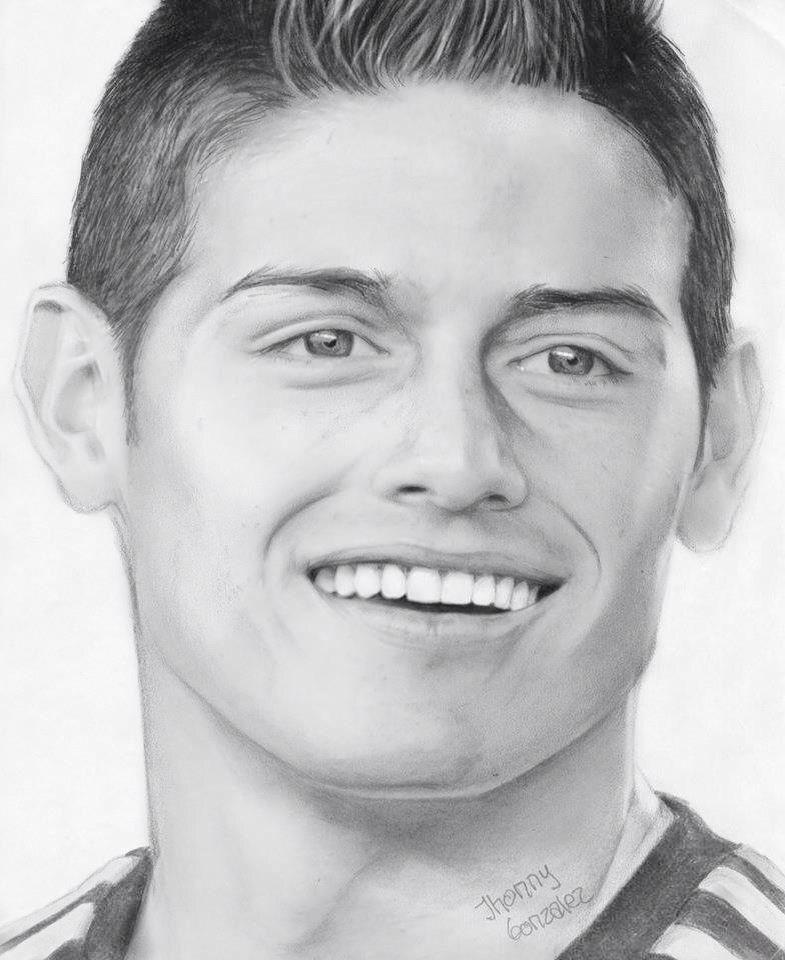 dibujos de los jugadores del real madrid futbolistas  Arte Dibujo