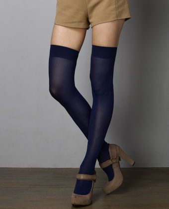 f7329ab23e5 Sock It To Me Thigh High Navy Blue Tights  19.00  Lulus
