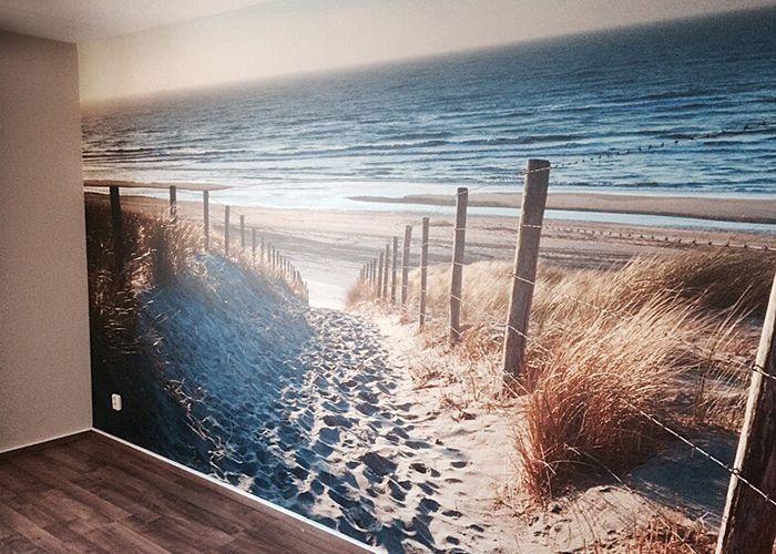 Fotobehang Strand Zee.Fotobehang Duinen Met Uitzicht Op Het Strand En Zee Creadome