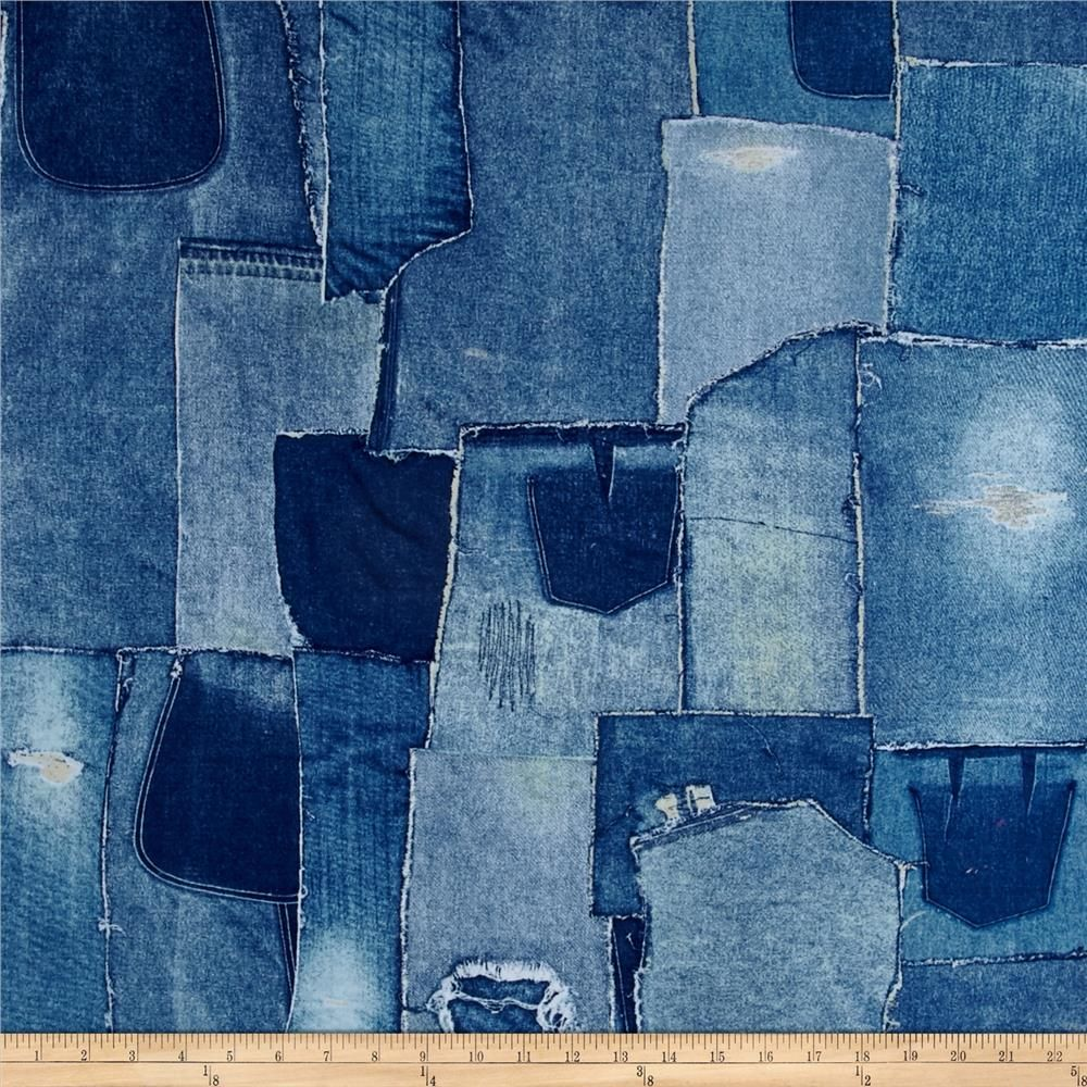 Limited Edition 108 In Wide Back Denim Patchwork From