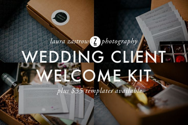 Welcome Kit Gift Package for Clients + Templates for Wedding - guide templates