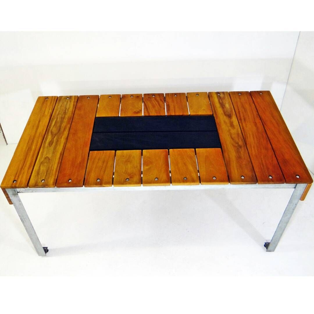 Table With Drink Trough Patio Table With Trough Finished Up Garapa Wood Top With