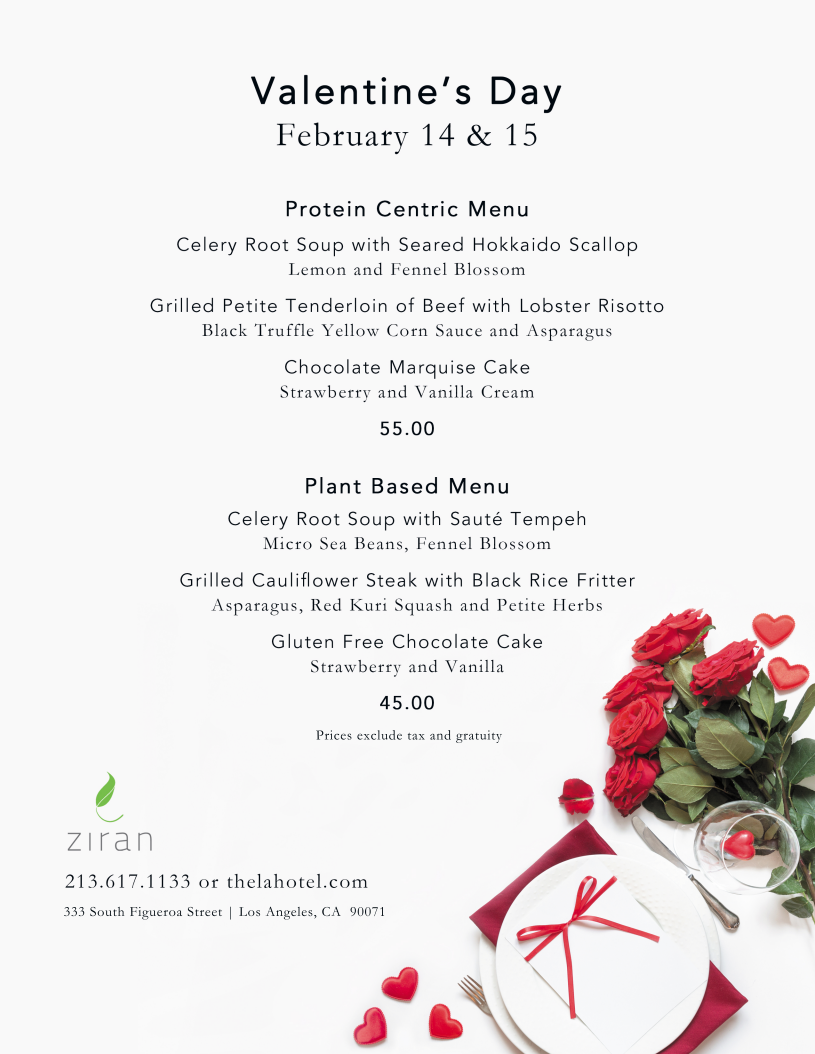 Join Us At Ziran For A Lovely And Romantic Valentine S Day Dinner Valentinesday Valentinesday In 2020 Valentines Day Dinner Los Angeles Restaurants Romantic Dinners