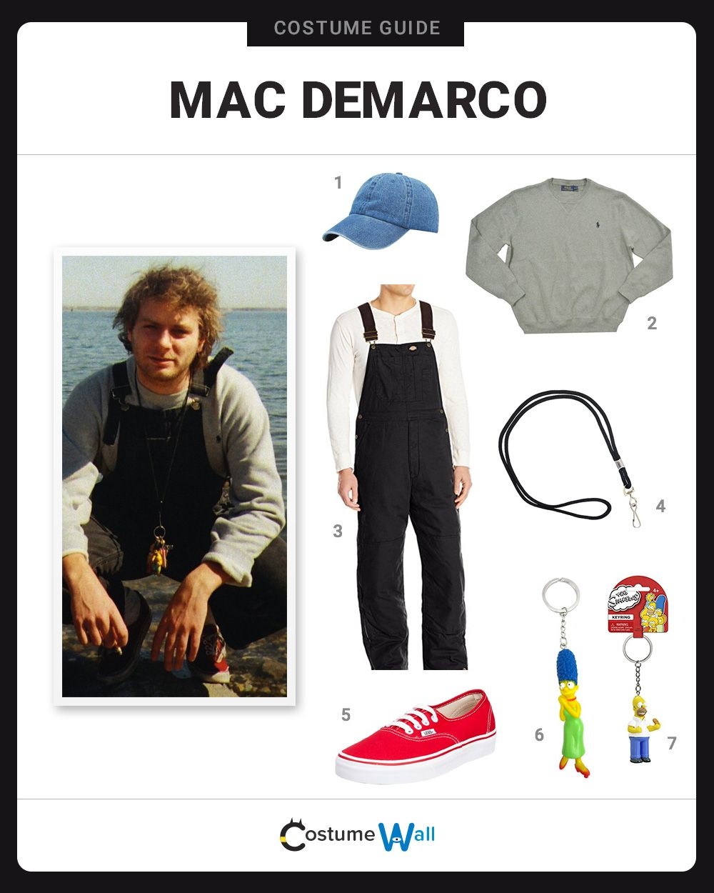 dcf4c033a The best costume guide for dressing up like Mac DeMarco, the up and coming  singer-songwriter who has a unique style of music and fashion.