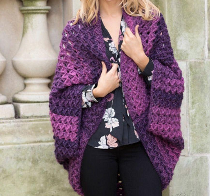 Único Granny Patrón Encogimiento De Hombros Crochet Colección ...