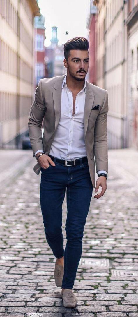 Macho Moda - Blog de Moda Masculina  BLAZER com CALÇA JEANS 637dd884385