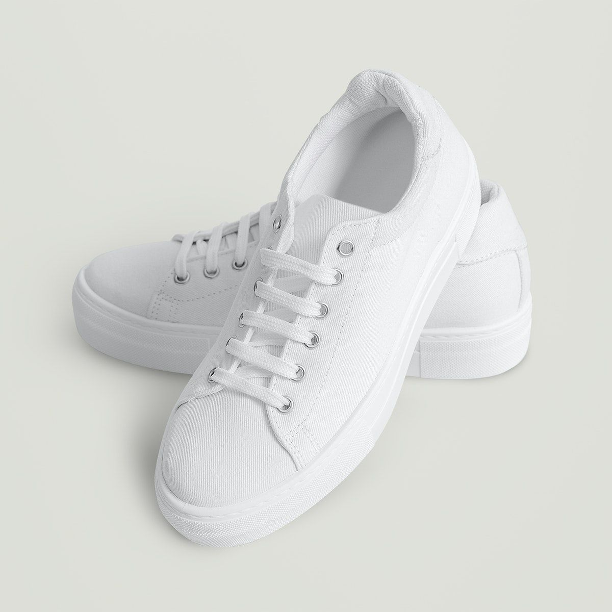 Download Download Premium Illustration Of White Canvas Sneaker Psd Woman S Sneakers White Canvas Canvas Sneakers