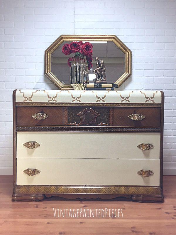 Art Deco Hand Painted Dresser For Sale In Shelton Ct Art Deco Dresser Art Deco Furniture Waterfall Art Deco