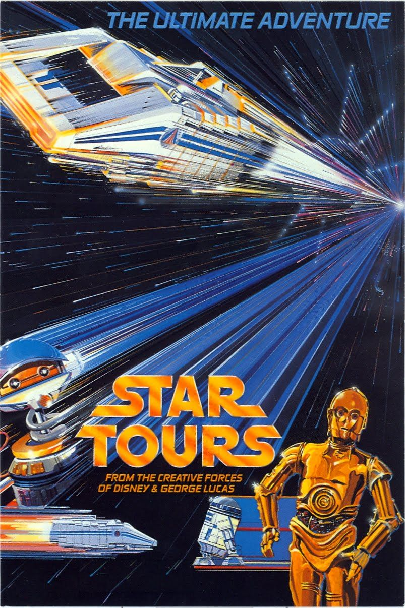 Disneyland B2G1F Star Tours Collector/'s Poster Print