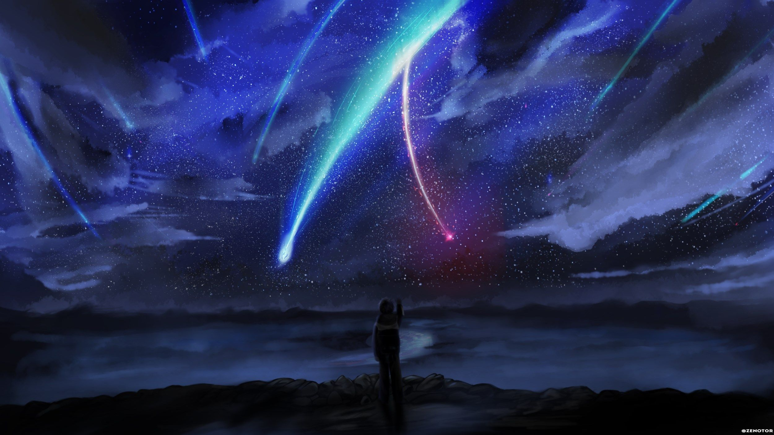 2500x1406 Background High Resolution your name Anime