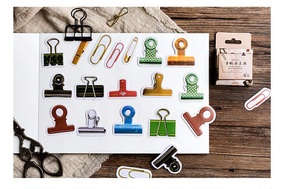 Image result for stickers binder clips paper clips