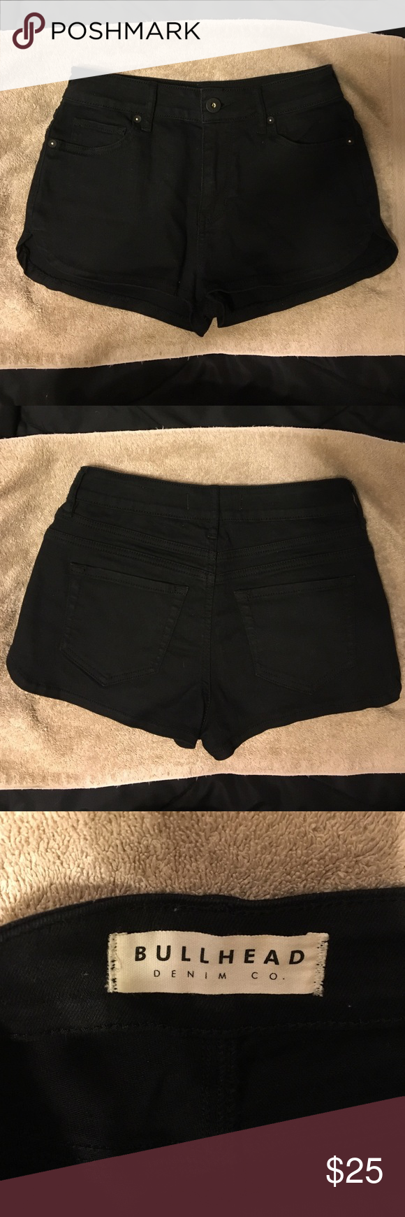 Pacsun high rise shorts Great condition and hardly worn just outgrew them. PacSun Shorts Jean Shorts