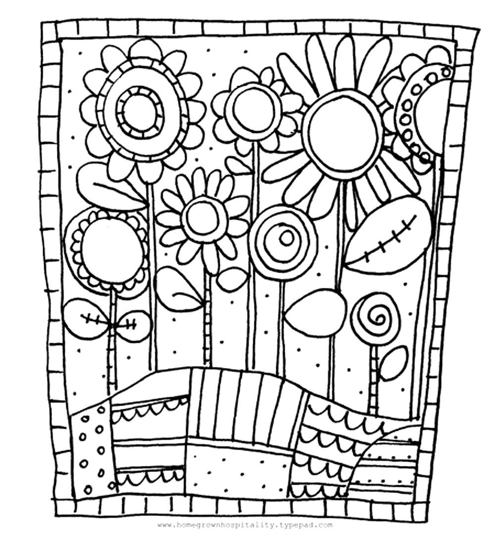 To Print This Free Coloring Page Adult Simple Flowers