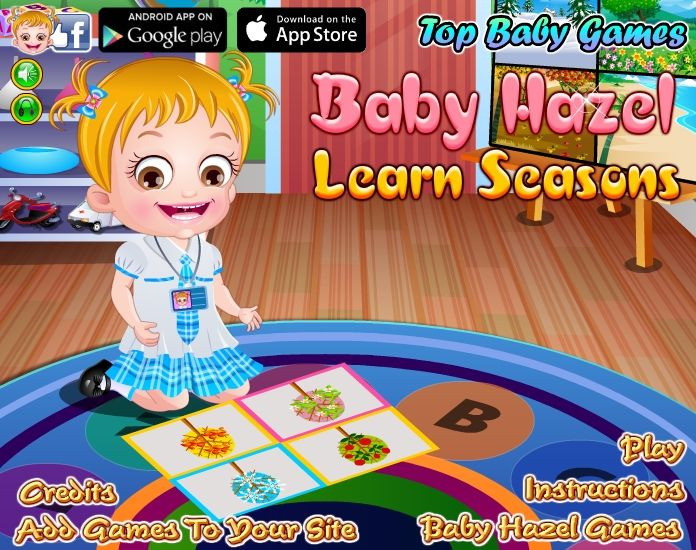 Enjoy learning about four different seasons with Baby Hazel through interesting activities, tasks and assignment. http://www.topbabygames.com/baby-hazel-learn-seasons.html