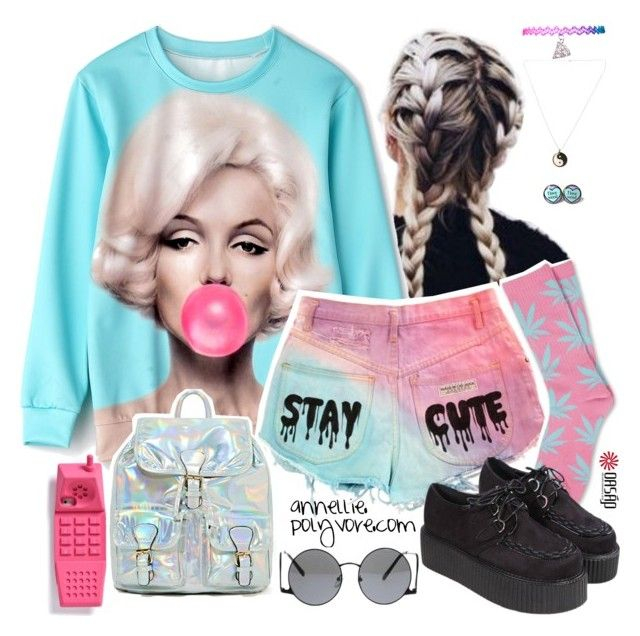 """Kawaii Grunge"" by annellie ❤ liked on Polyvore"