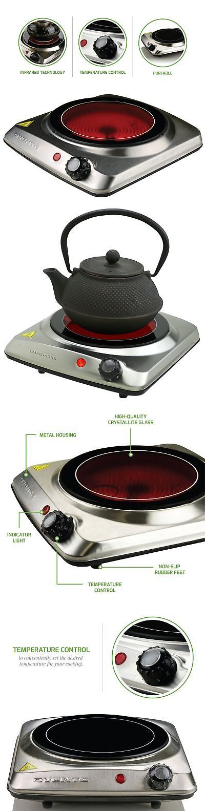 Burners And Hot Plates 177751 Portable Electric Cooktop Burner Infrared Single Plate Hot Cooking Stove Cook Buy It Now Only 27 6 Hot Plates Ebay Infrared