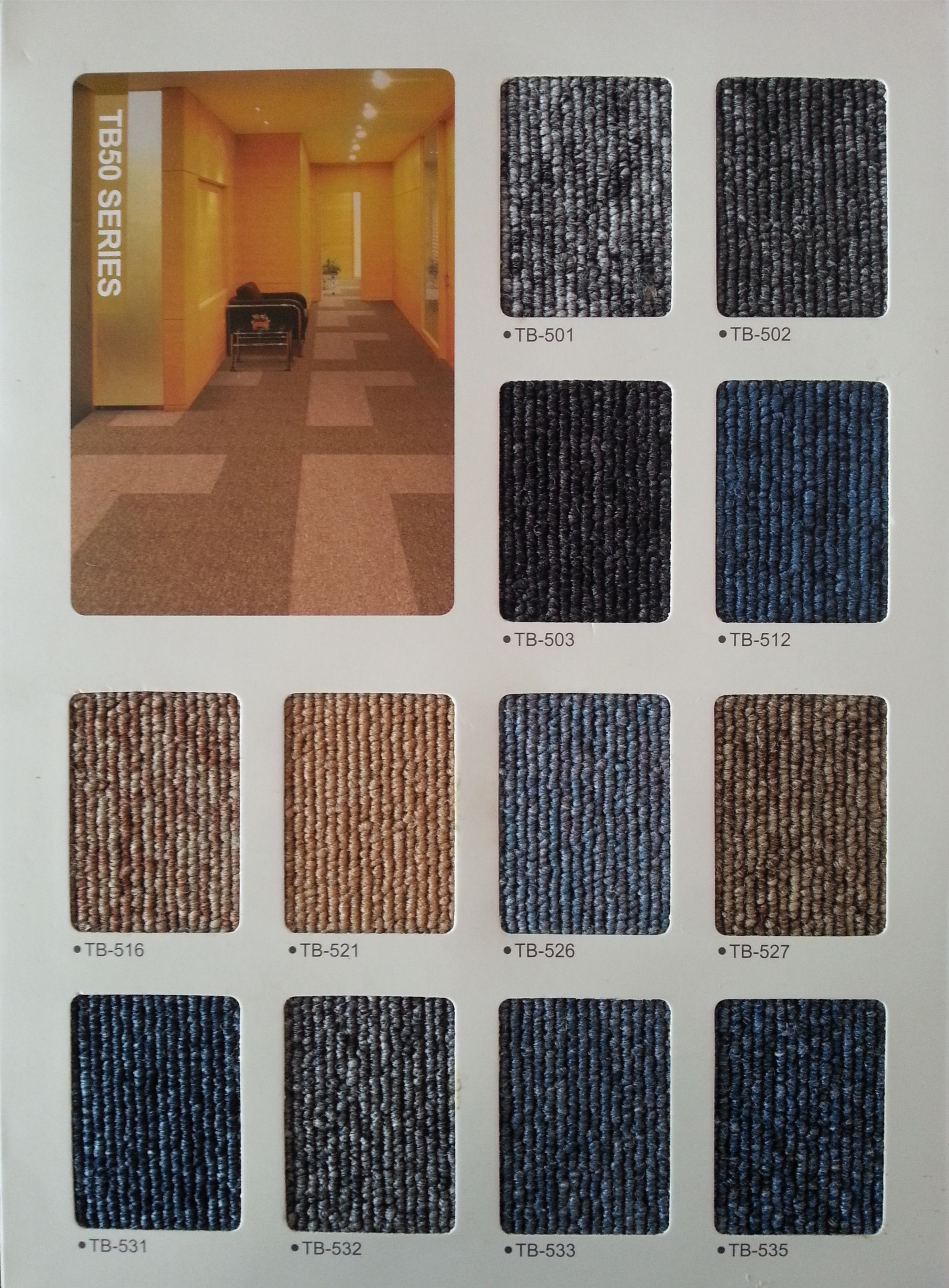 Tb50 Series 500500mmbacking Pvc Carpet Tile Ht Raised Access