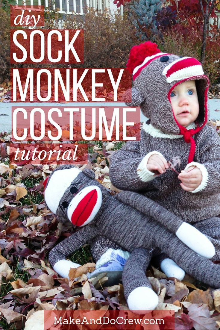 TUTORIAL: Baby Knit Sock Monkey Halloween Costume