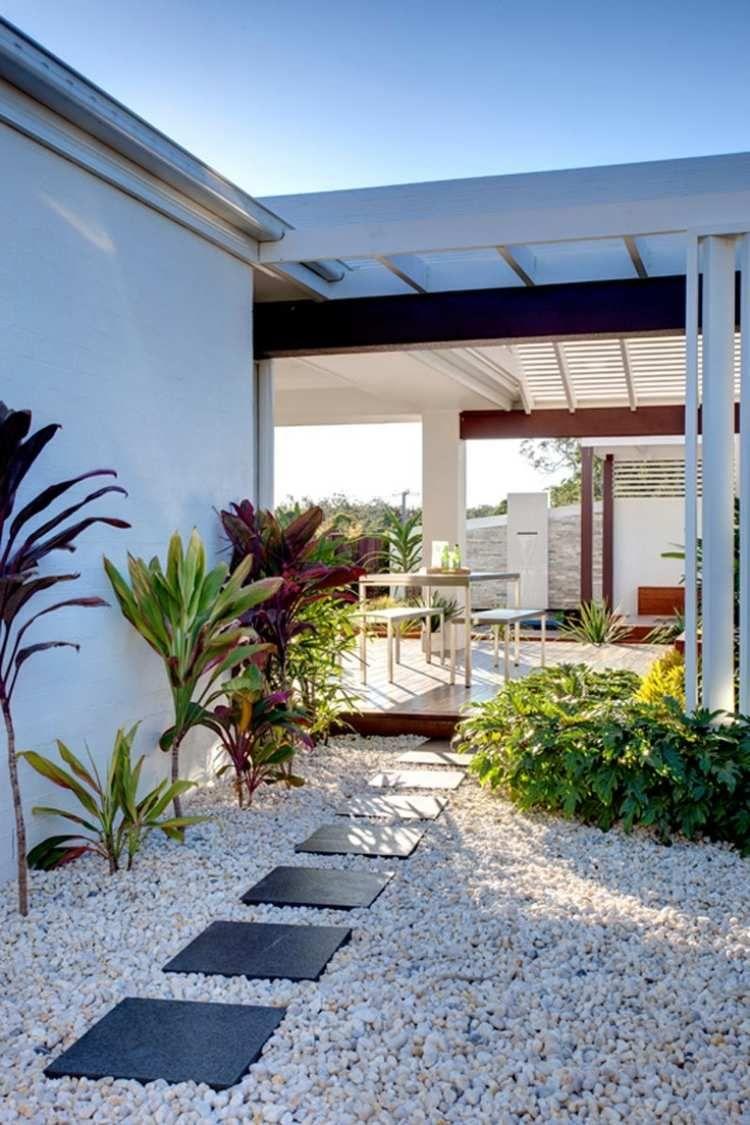 galet d coratif blanc plus de 45 id es pour vous inspirer jardin pinterest pas japonais. Black Bedroom Furniture Sets. Home Design Ideas