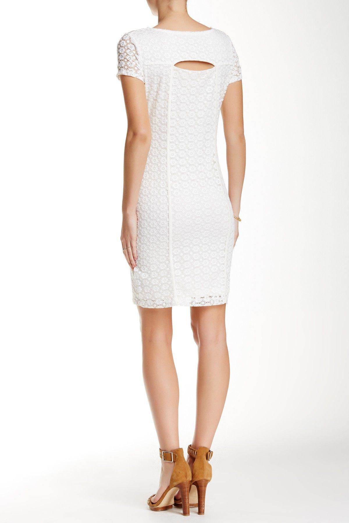 Leilah Short Sleeve Lace Dress by Tart on @nordstrom_rack