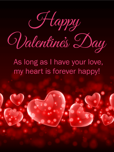 My Heart Is Forever Happy Happy Valentine S Day Card Birthday Greeting Cards By Davia Happy Valentines Day Gif Happy Valentine Day Quotes Valentines Day Messages