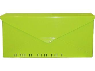 HouseArt 10 Envelope Modern WallMount Mailbox in Key Lime http