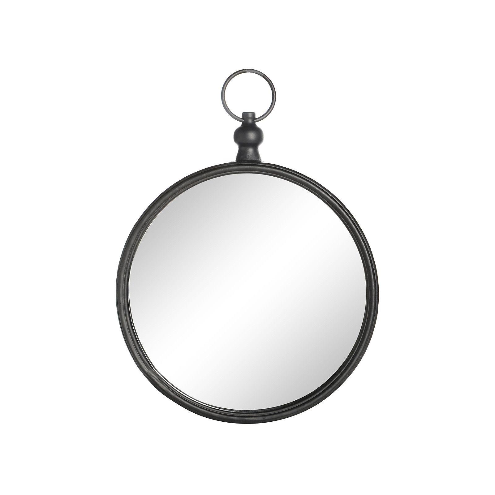 Epic Wanddeko Spiegel Metall schwarz ca D cm