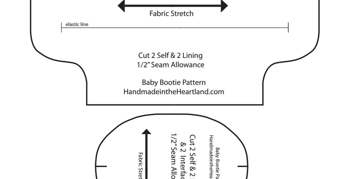 Baby Bootie Pattern 1 Pdf Quilt Babys Sleeping Bag Pinterest